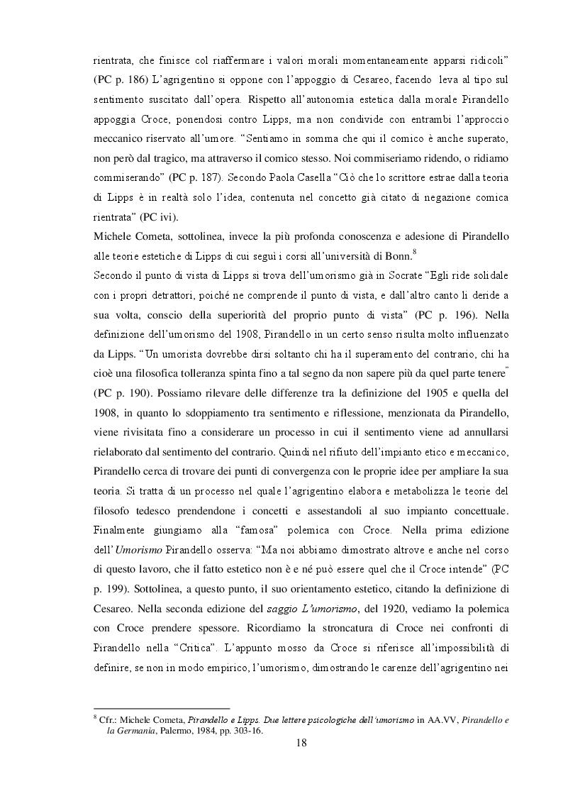 """Anteprima della tesi: """"L'umorismo"""" di Pirandello tra saggio e romanzo, Pagina 8"""