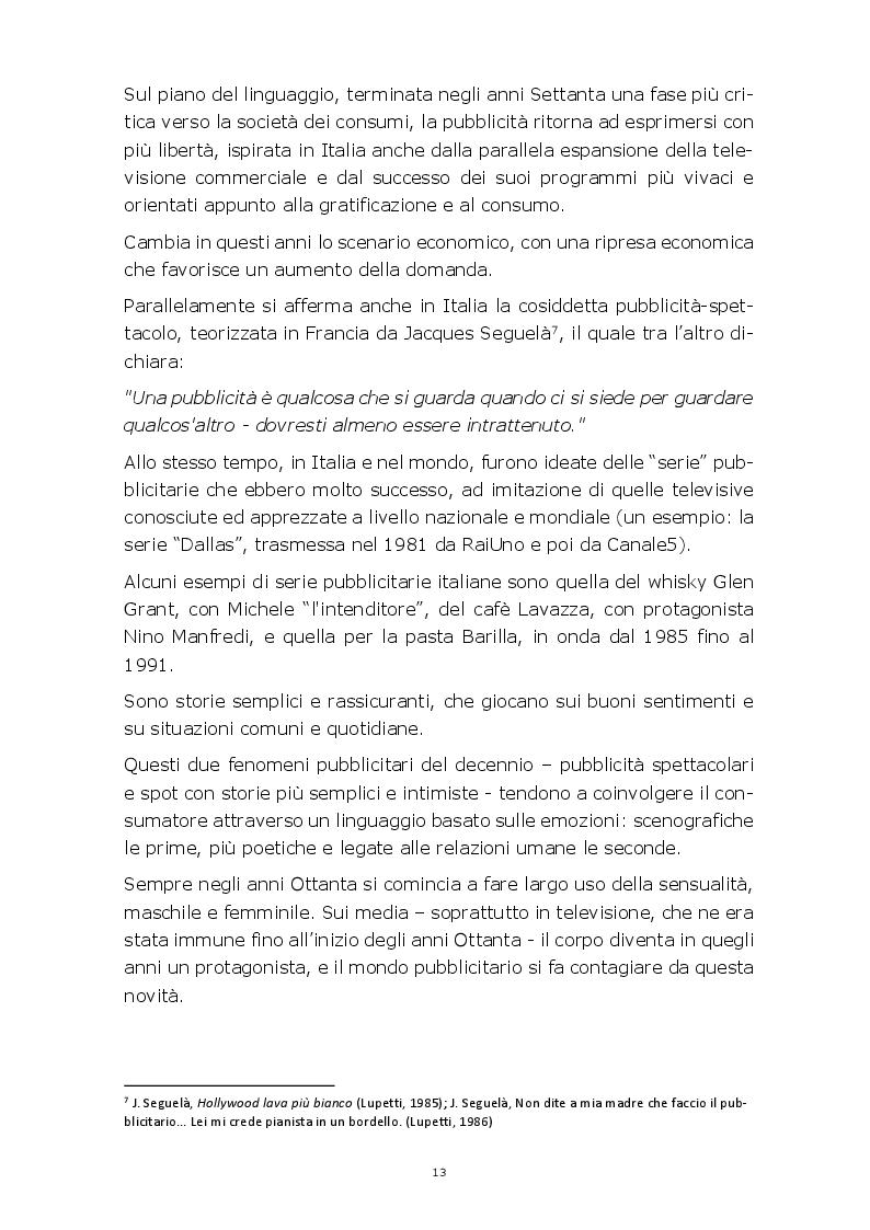 Anteprima della tesi: Evoluzione della comunicazione pubblicitaria del settore automobilistico in Italia dagli anni Settanta ad oggi, Pagina 10