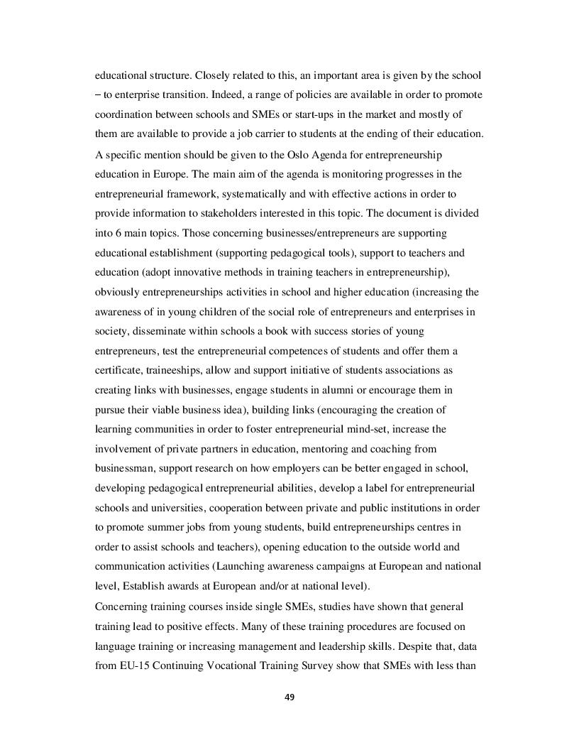 Anteprima della tesi: European regulations and policies on small and medium size enterprises, Pagina 5