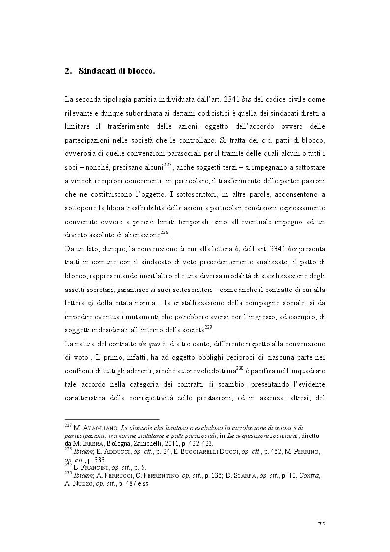 Anteprima della tesi: Patti parasociali. Disciplina giuridica e prassi societaria, Pagina 2