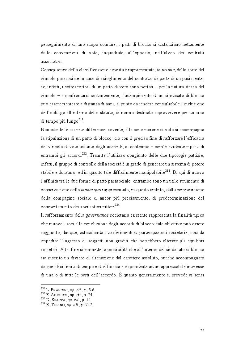 Anteprima della tesi: Patti parasociali. Disciplina giuridica e prassi societaria, Pagina 3
