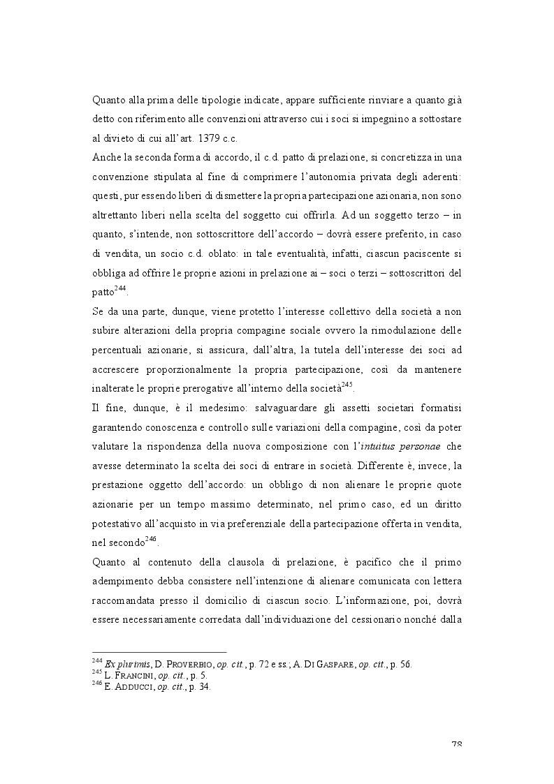 Anteprima della tesi: Patti parasociali. Disciplina giuridica e prassi societaria, Pagina 7
