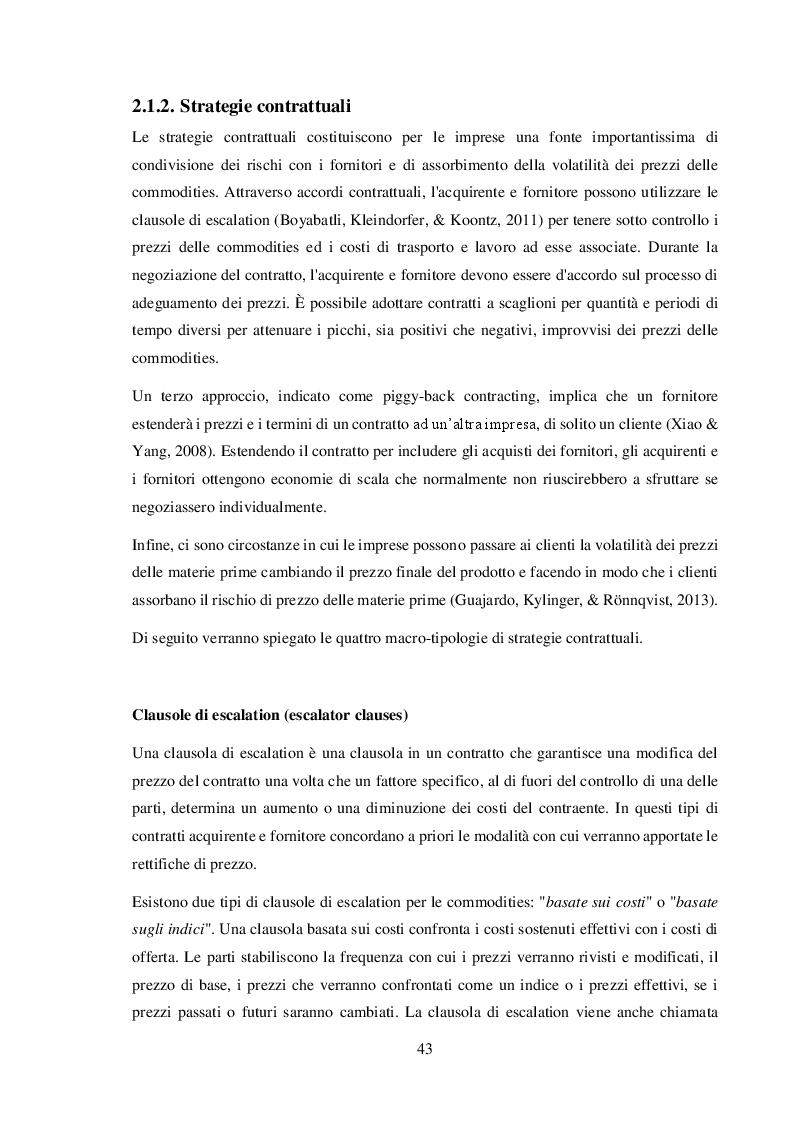 Anteprima della tesi: La gestione del commodity price risk e del supplier default risk: il punto di vista della supply chain, Pagina 2