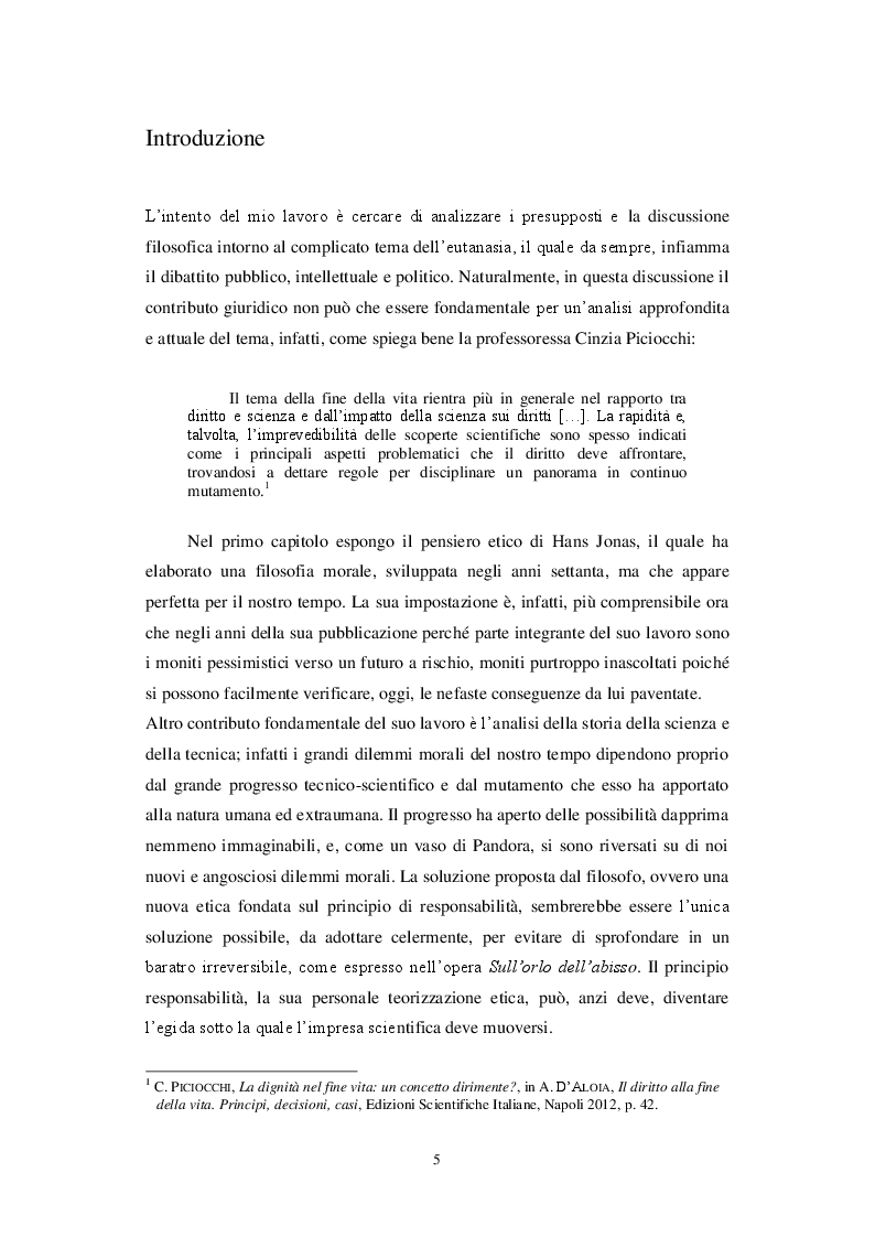 Anteprima della tesi: Aspetti del dibattito etico-giuridico sull'eutanasia, Pagina 2