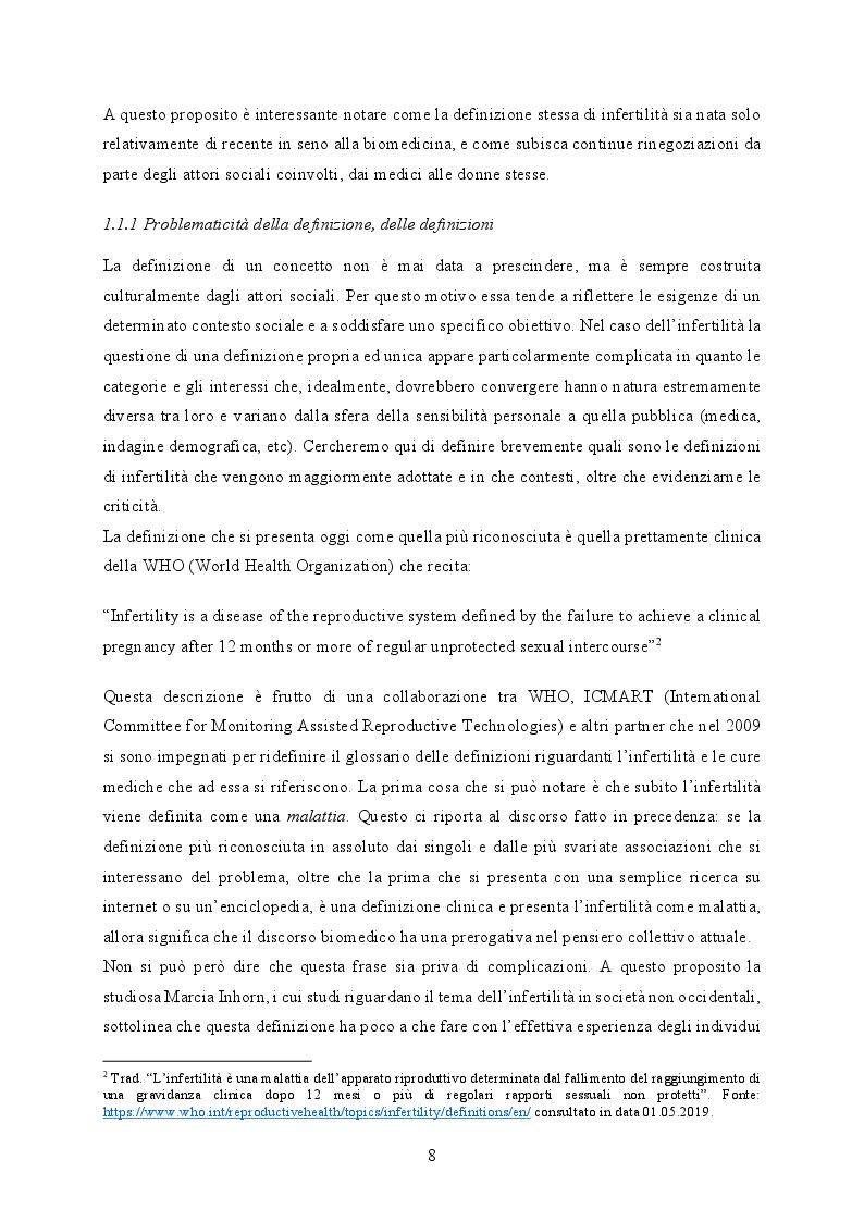 Anteprima della tesi: Ri-produrre la vita: l'infertilità femminile al tempo delle Nuove Tecnologie Riproduttive, Pagina 5