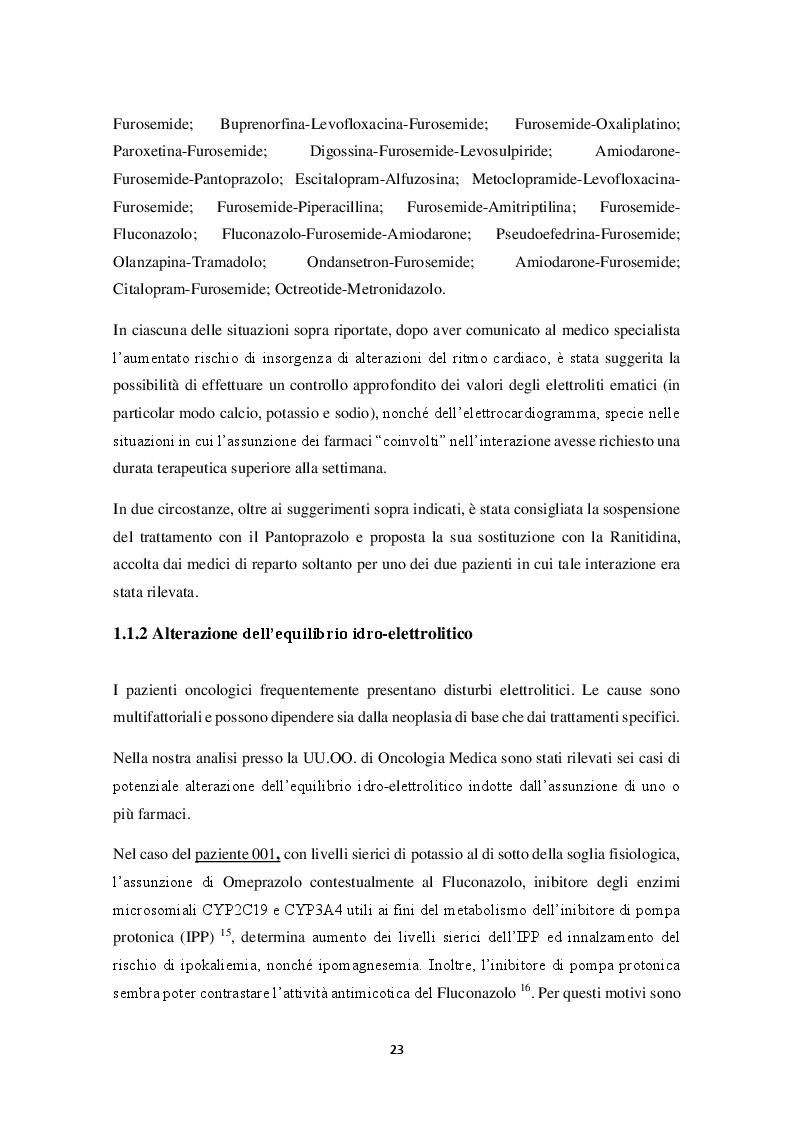 Estratto dalla tesi: Riconciliazione della terapia Farmacologica in oncologia: esperienza dell'I.R.C.C.S. Istituto Tumori Bari