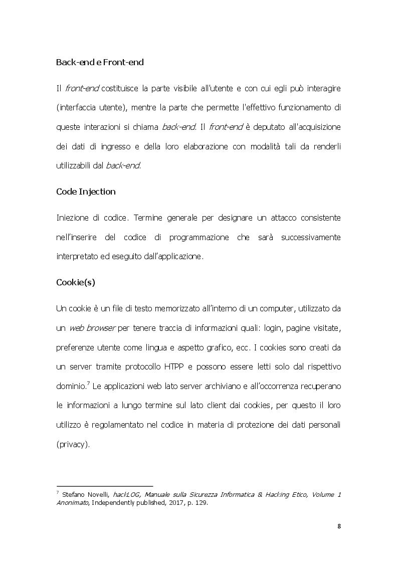 Anteprima della tesi: SQL injection: una panoramica delle criticità nel contesto dell'accesso remoto all'informazione, Pagina 9