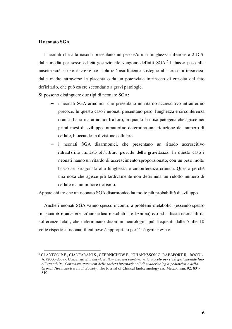 Anteprima della tesi: Efficacia del trattamento fisioterapico precoce sullo sviluppo neuromotorio del neonato a rischio, Pagina 7