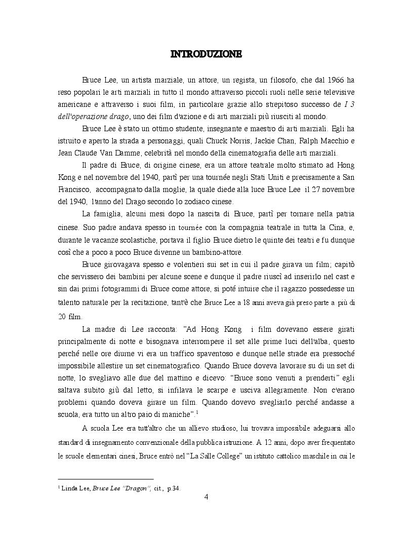 Anteprima della tesi: Bruce Lee: Innovazione nel cinema delle arti marziali, Pagina 2