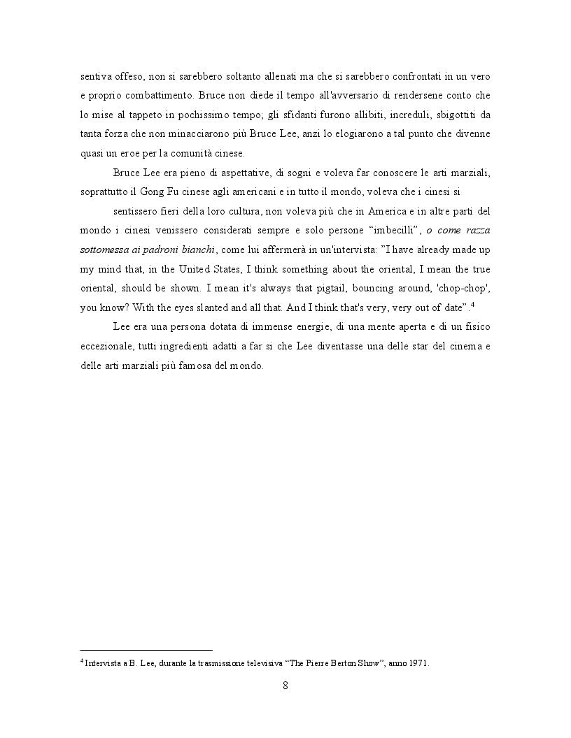Anteprima della tesi: Bruce Lee: Innovazione nel cinema delle arti marziali, Pagina 6