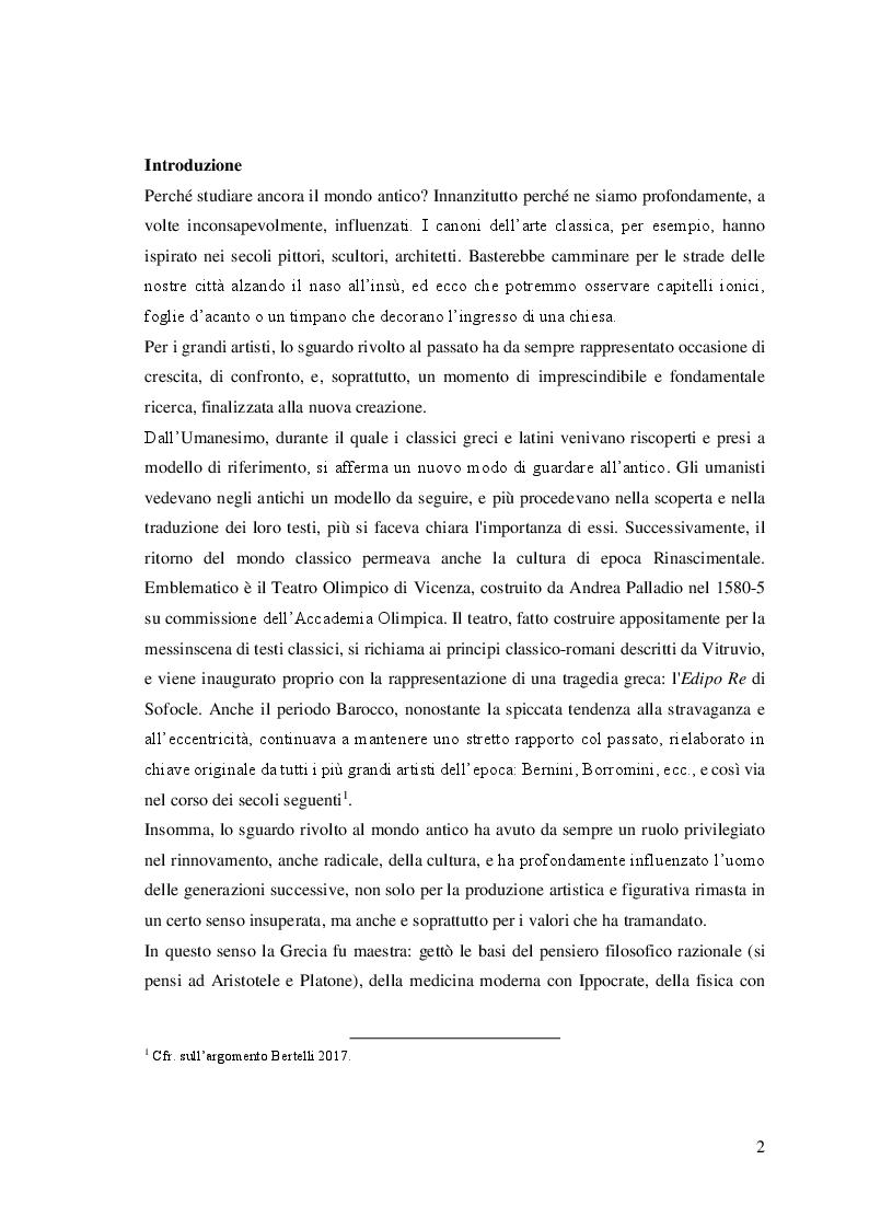 Anteprima della tesi: Parole nuove per un testo antico: l'Orestea di Eschilo da Pasolini agli Anagoor, Pagina 2