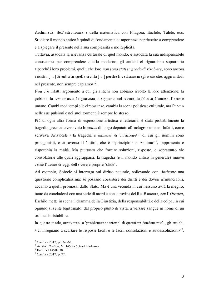 Anteprima della tesi: Parole nuove per un testo antico: l'Orestea di Eschilo da Pasolini agli Anagoor, Pagina 3