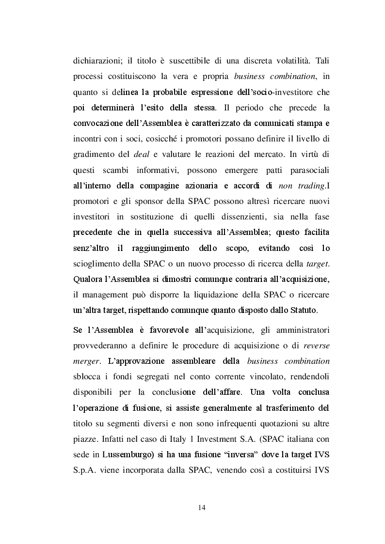 Estratto dalla tesi: La SPAC: un veicolo innovativo nel sistema finanziario italiano