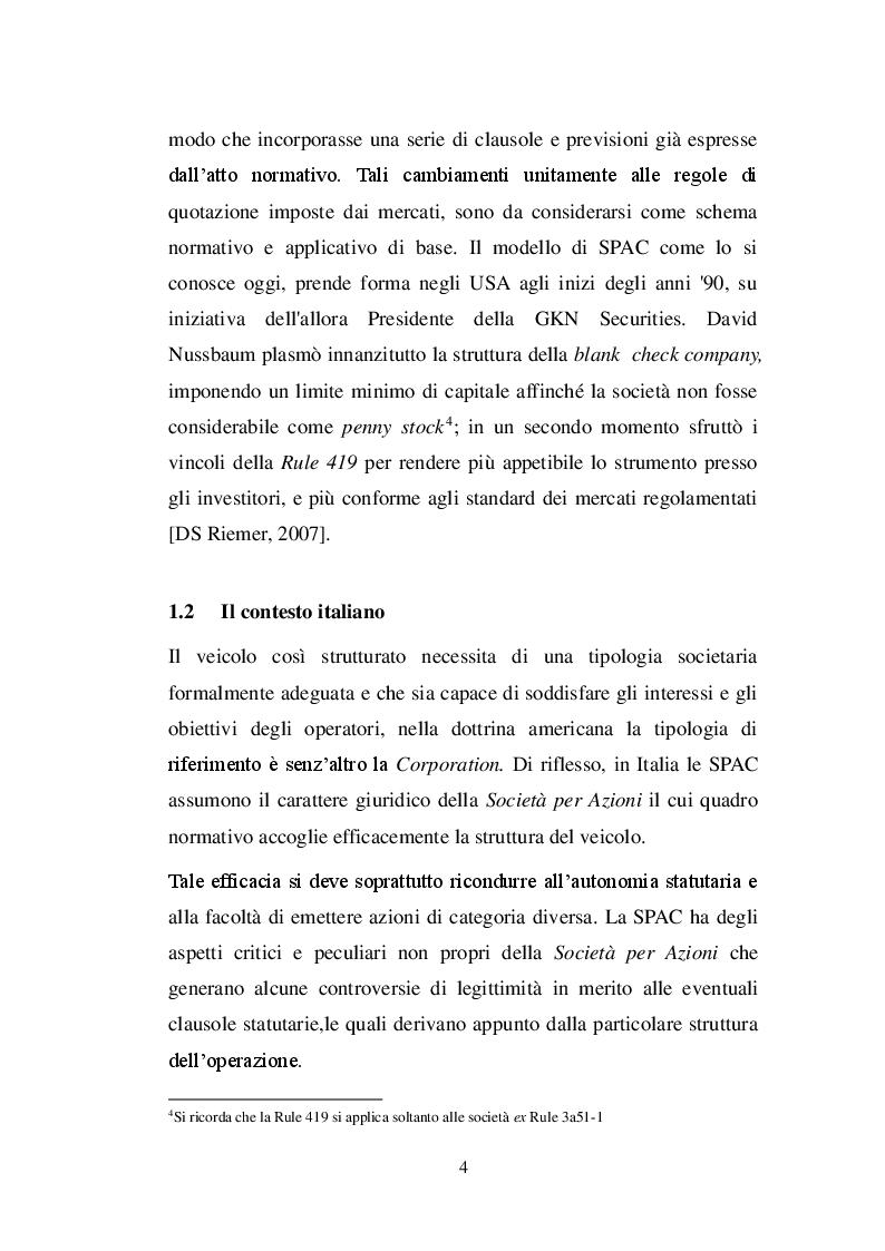 Anteprima della tesi: La SPAC: un veicolo innovativo nel sistema finanziario italiano, Pagina 5
