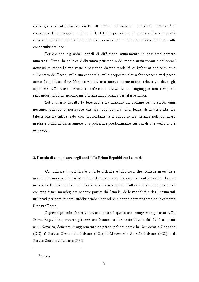 Anteprima della tesi: Dalle piazze a twitter, analisi dell'evoluzione della comunicazione politica in Italia, Pagina 5
