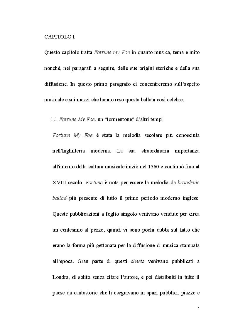 Anteprima della tesi: Fortune my Foe, tradurre la poesia e la canzone, Pagina 6