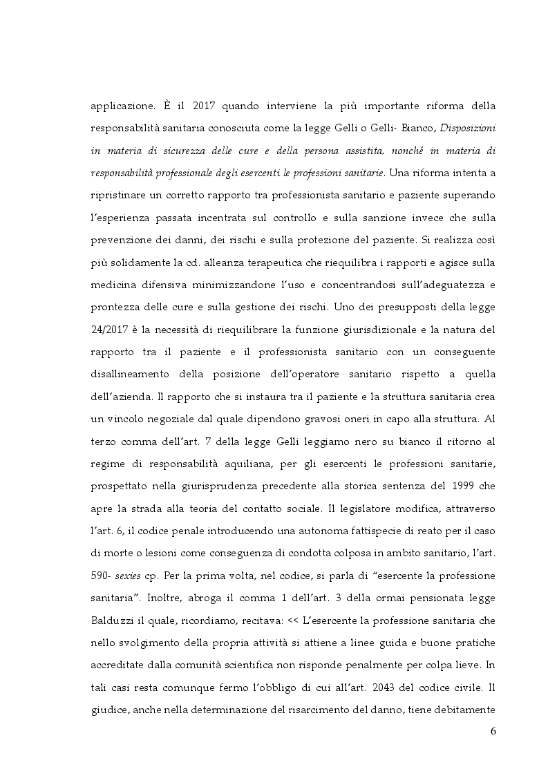 Anteprima della tesi: La responsabilità professionale dell'infermiere: risk management e le nuove frontiere dell'infermieristica forense, Pagina 3