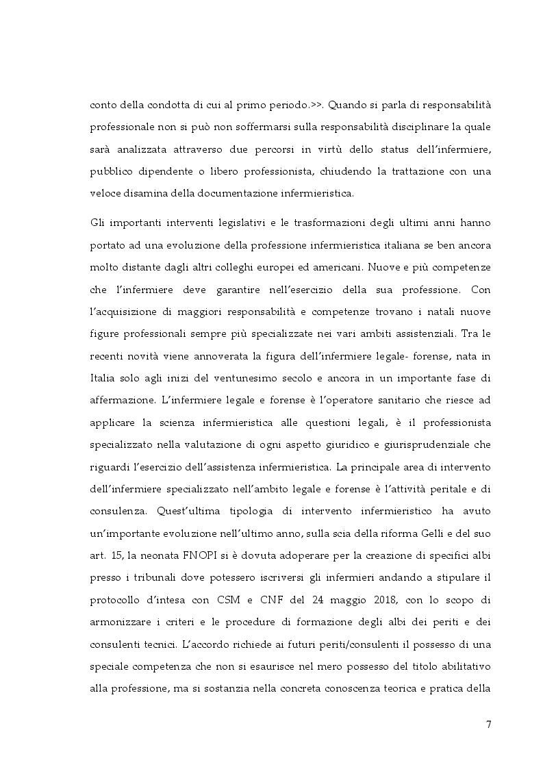 Anteprima della tesi: La responsabilità professionale dell'infermiere: risk management e le nuove frontiere dell'infermieristica forense, Pagina 4