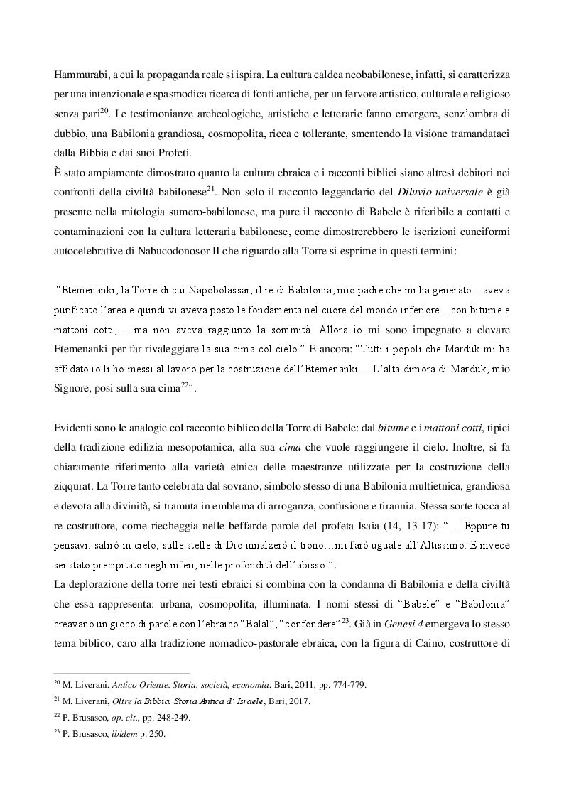 Anteprima della tesi: La Torre di Babele tra mito, arte e storia, Pagina 7