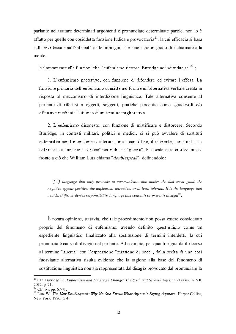 Anteprima della tesi: Bioetica e tabù linguistico: aborto, eutanasia, identità di genere. Il processo di interdizione linguistica e le strategie sostitutive nelle lingue russa e inglese., Pagina 10