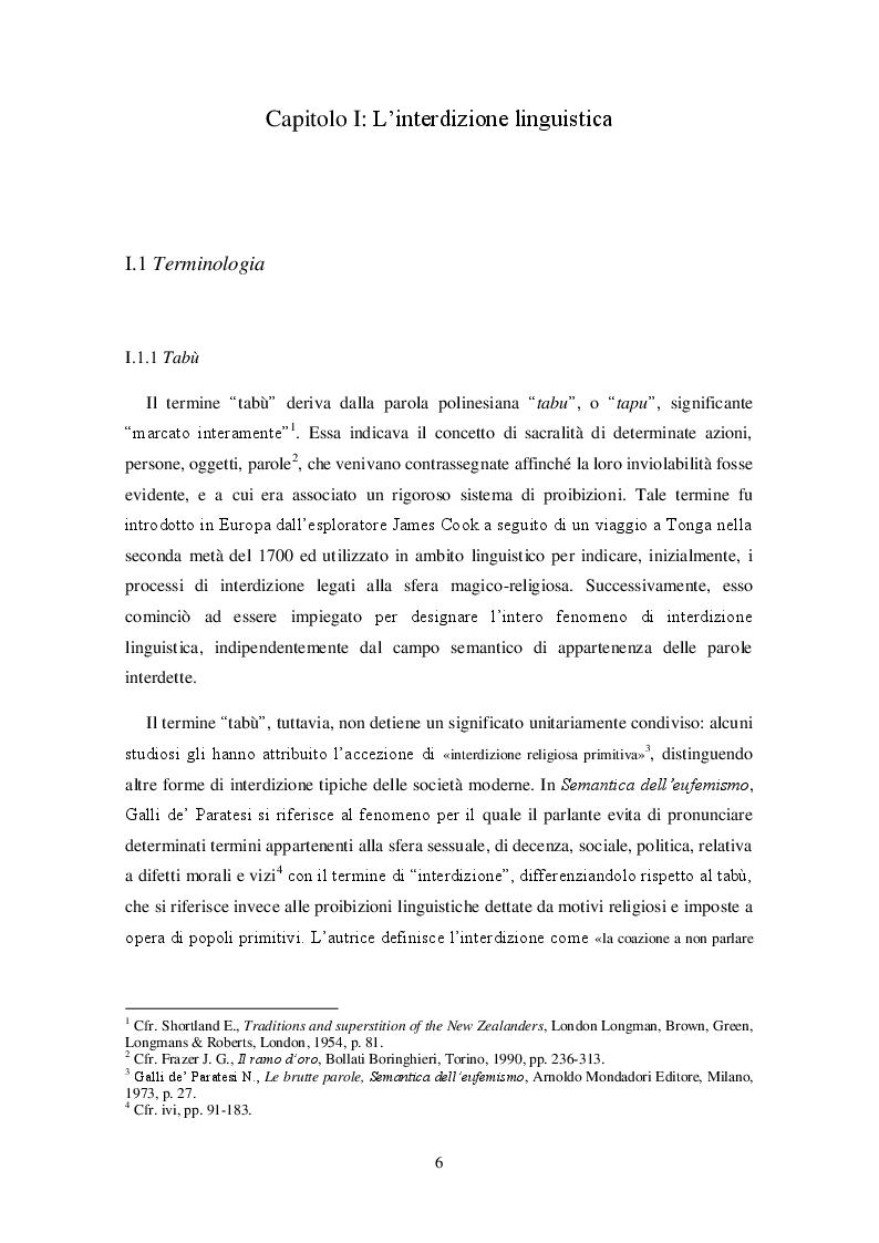 Anteprima della tesi: Bioetica e tabù linguistico: aborto, eutanasia, identità di genere. Il processo di interdizione linguistica e le strategie sostitutive nelle lingue russa e inglese., Pagina 4