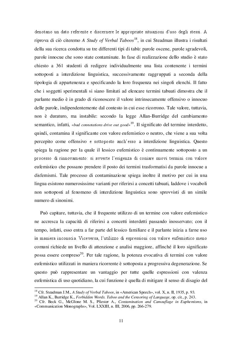 Anteprima della tesi: Bioetica e tabù linguistico: aborto, eutanasia, identità di genere. Il processo di interdizione linguistica e le strategie sostitutive nelle lingue russa e inglese., Pagina 9