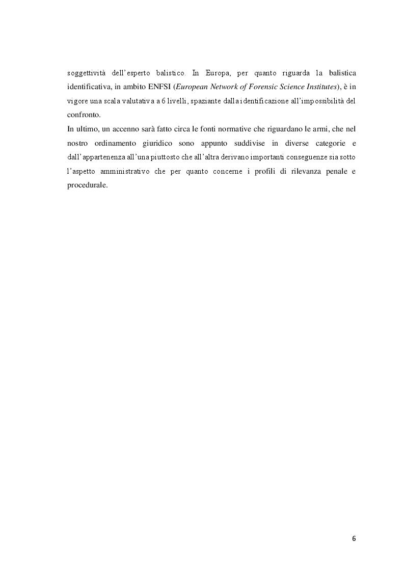 Anteprima della tesi: Le investigazioni scientifiche della polizia giudiziaria: Il sopralluogo tecnico e le indagini balistiche forensi., Pagina 5