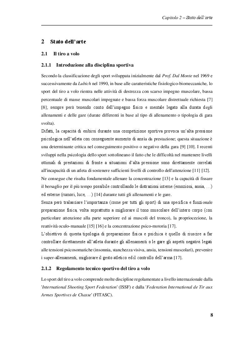 Estratto dalla tesi: Procedure sperimentali per l'analisi degli effetti del rinculo del fucile sul tiratore sportivo