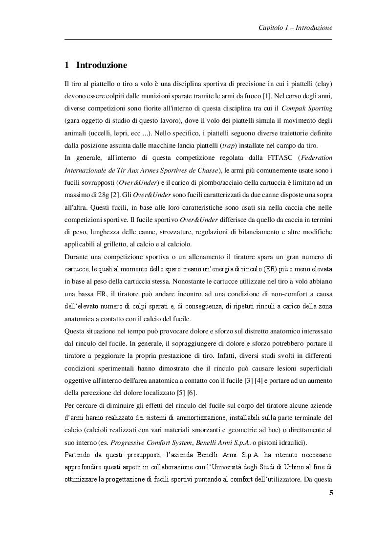 Anteprima della tesi: Procedure sperimentali per l'analisi degli effetti del rinculo del fucile sul tiratore sportivo, Pagina 4
