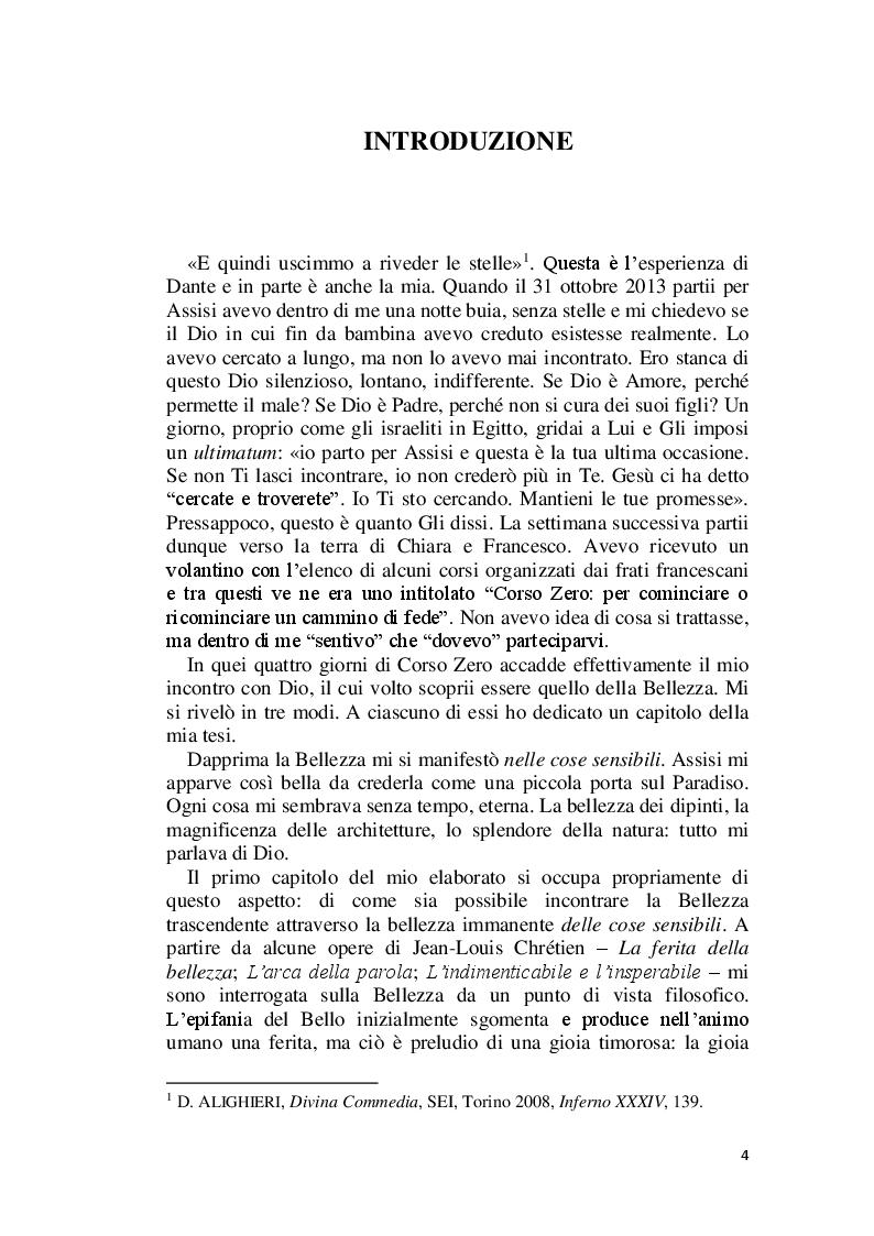 Anteprima della tesi: La Bellezza e il suo appello pro-vocante. Un percorso filosofico e teologico, Pagina 2