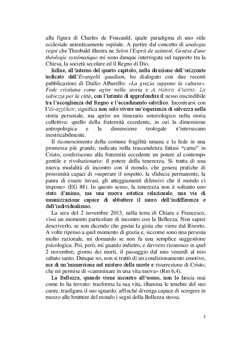 Anteprima della tesi: La Bellezza e il suo appello pro-vocante. Un percorso filosofico e teologico, Pagina 5