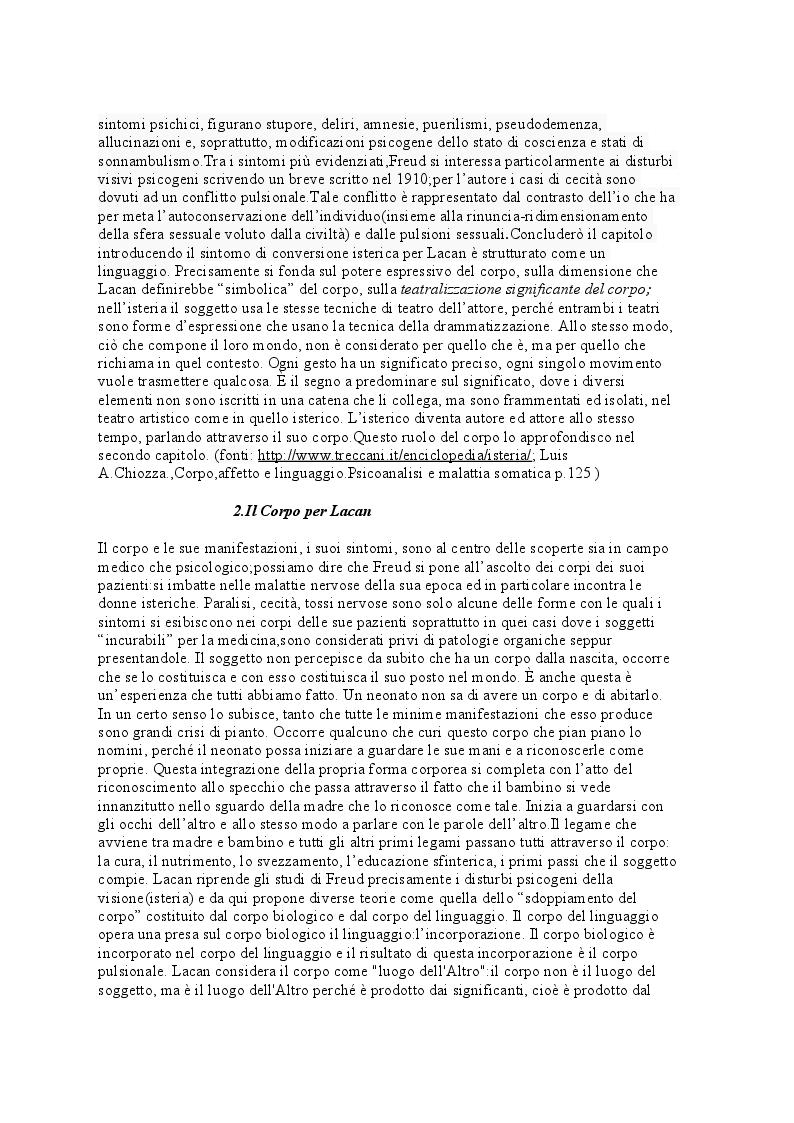 Anteprima della tesi: La Psicosomatica: ''soggetto e corpo secondo la psicoanalisi lacaniana'', Pagina 4