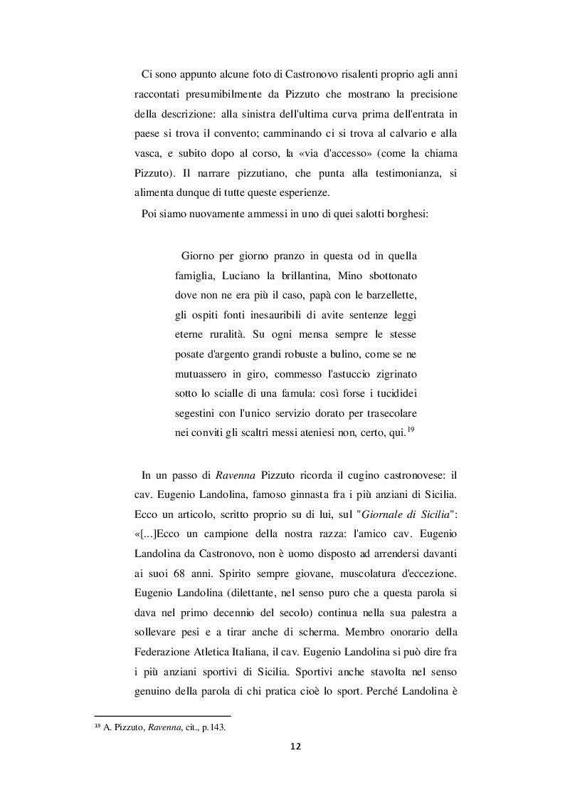 Estratto dalla tesi: Castronovo e i suoi personaggi nelle opere di Antonio Pizzuto