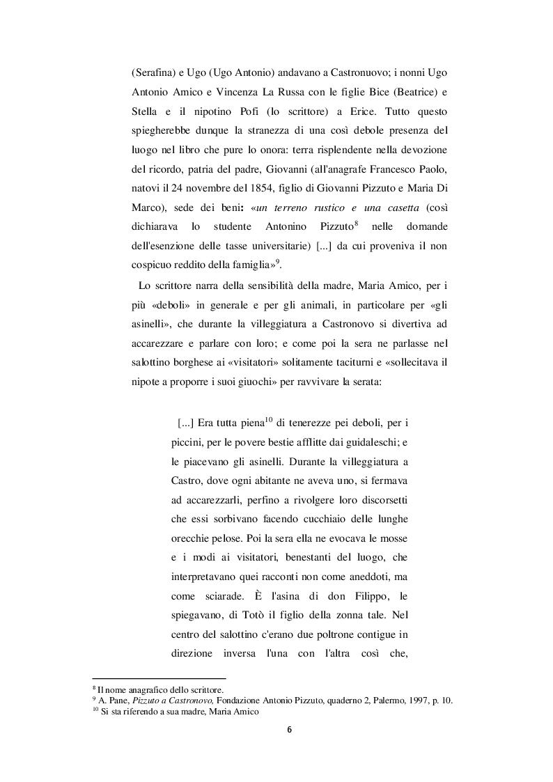 Anteprima della tesi: Castronovo e i suoi personaggi nelle opere di Antonio Pizzuto, Pagina 5