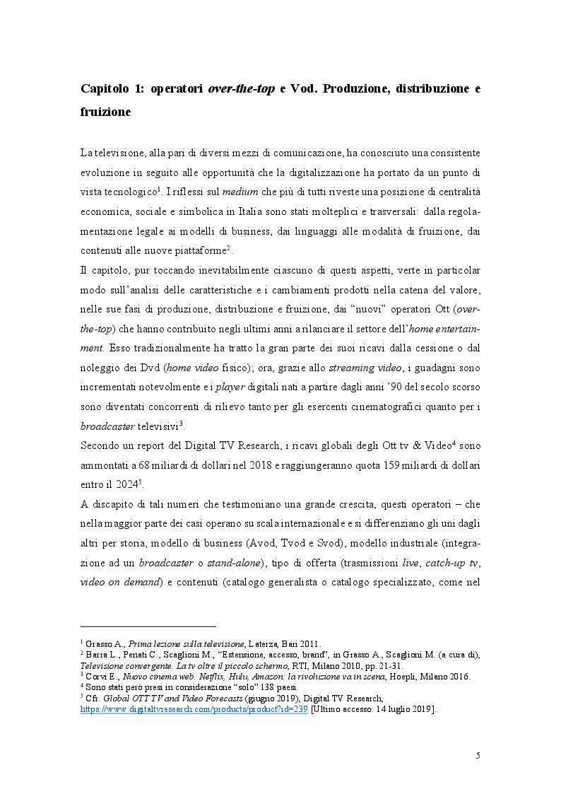 Anteprima della tesi: I nuovi player over-the-top nel settore dell'audiovisivo e il caso di DAZN, Pagina 4