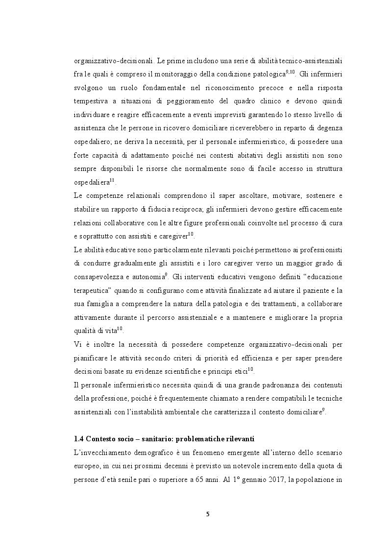 Anteprima della tesi: Modelli innovativi di ospedalizzazione: potenzialità del setting domiciliare come sede alternativa di ricovero, Pagina 6