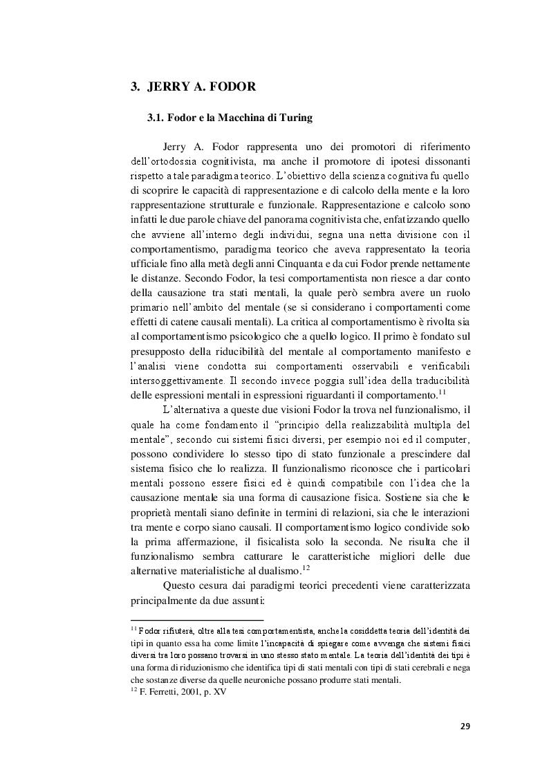 Anteprima della tesi: La competenza semantica negli esseri umani e nelle macchine. Teorie a confronto, Pagina 2
