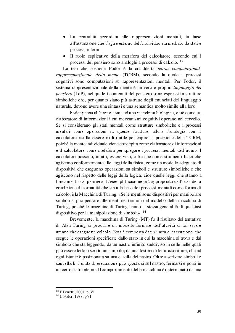 Anteprima della tesi: La competenza semantica negli esseri umani e nelle macchine. Teorie a confronto, Pagina 3