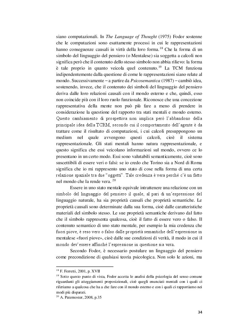 Anteprima della tesi: La competenza semantica negli esseri umani e nelle macchine. Teorie a confronto, Pagina 7