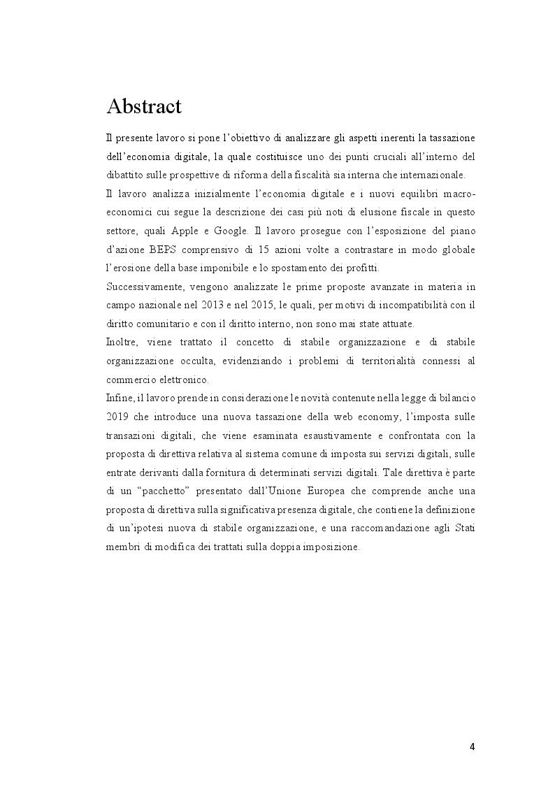 Anteprima della tesi: Tassazione dell'economia digitale: Web Tax e Digital Tax, Pagina 2