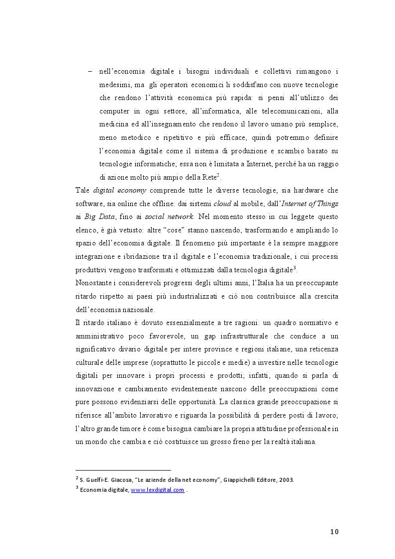 Anteprima della tesi: Tassazione dell'economia digitale: Web Tax e Digital Tax, Pagina 7