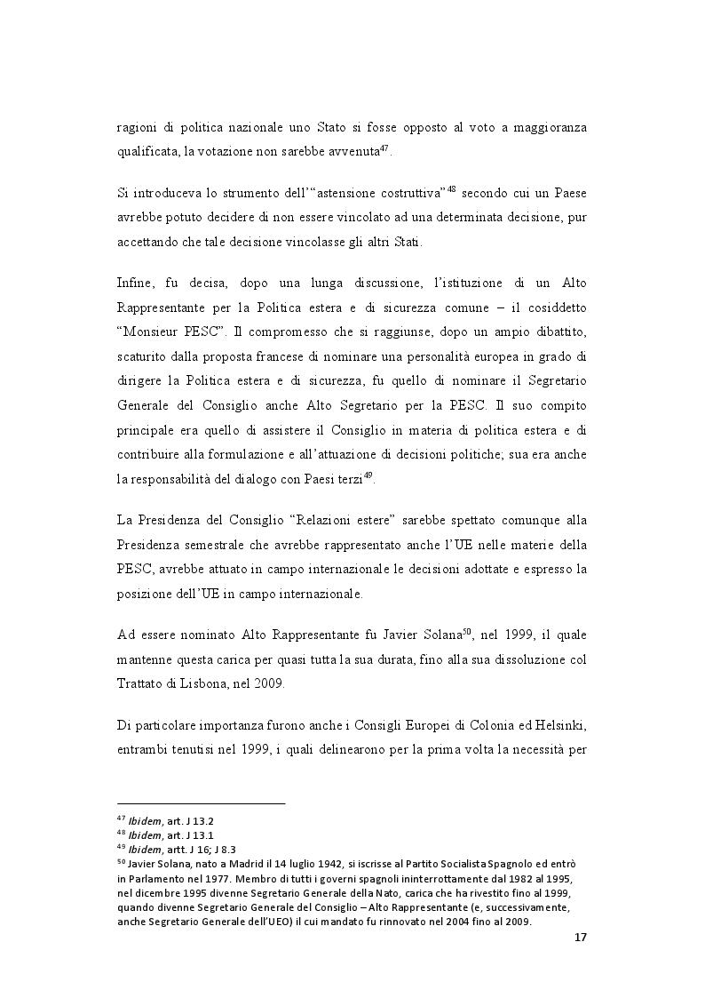Anteprima della tesi: La politica estera europea prima e dopo il Trattato di Lisbona. Due casi: la Guerra in Georgia e la Primavera araba, Pagina 7