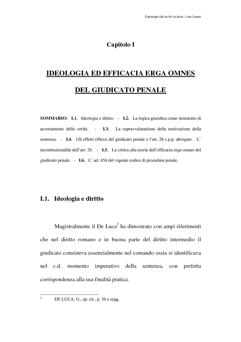 Anteprima della tesi: Il principio del ne bis in idem e il giudicato penale, Pagina 5