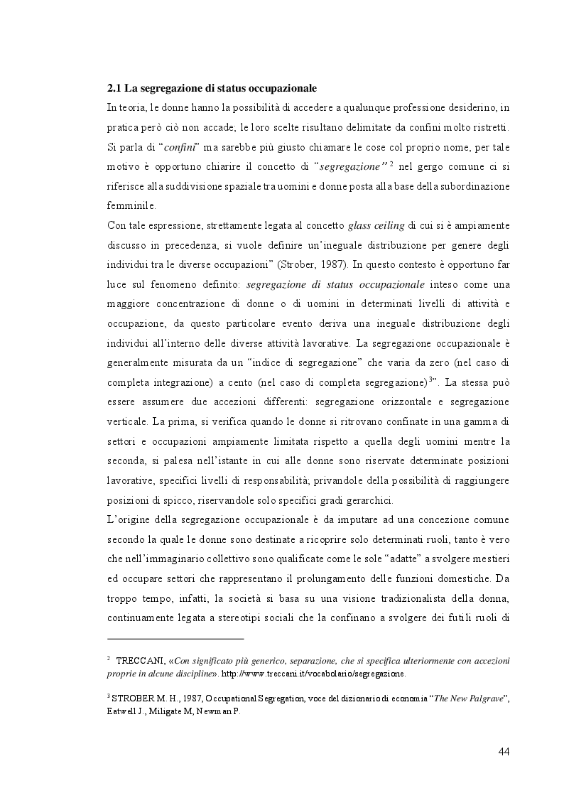 Anteprima della tesi: L'Imprenditorialità femminile, dalla diversità di genere alle pari opportunità: un'analisi empirica, Pagina 2