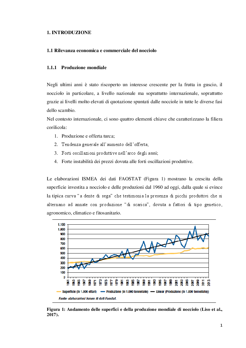 Anteprima della tesi: Modulazione della concentrazione di azoto e ferro sulla micropropagazione del nocciolo (Corylus avellana L.), Pagina 2