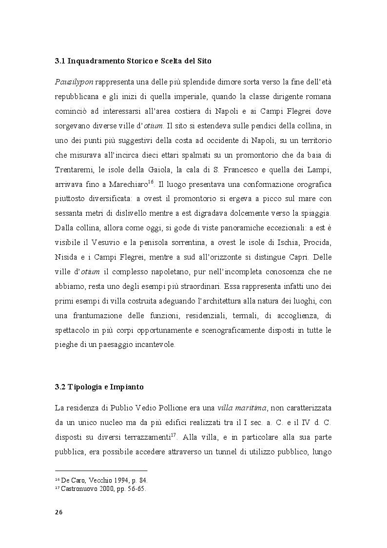 Estratto dalla tesi: Pausilypon: la villa di Vedio Pollione e dell'imperatore Augusto