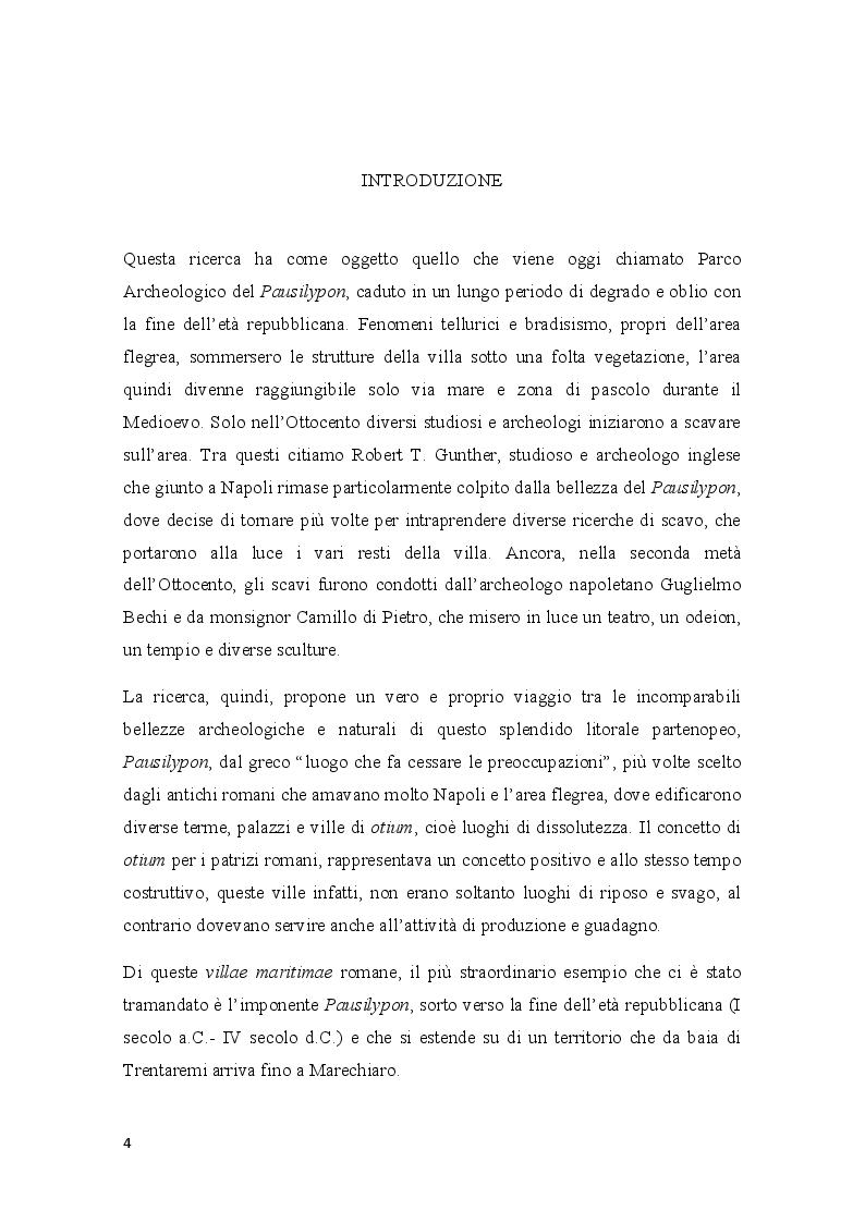 Anteprima della tesi: Pausilypon: la villa di Vedio Pollione e dell'imperatore Augusto, Pagina 2