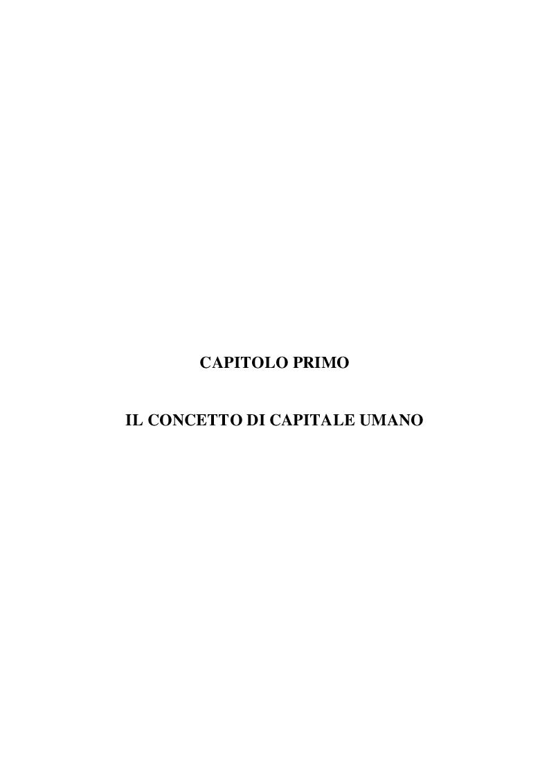 Anteprima della tesi: Il Capitale Umano nella valutazione del Capitale Economico e del Capitale di Funzionamento, Pagina 2