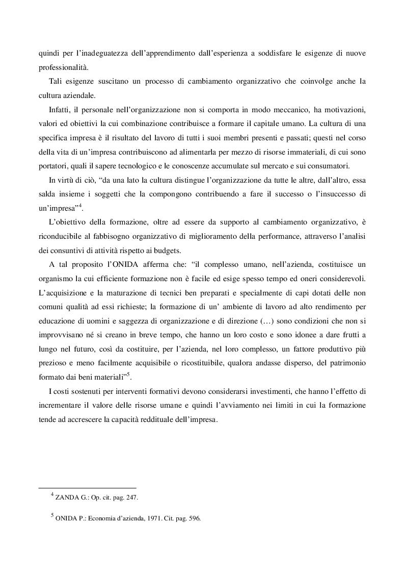 Anteprima della tesi: Il Capitale Umano nella valutazione del Capitale Economico e del Capitale di Funzionamento, Pagina 5