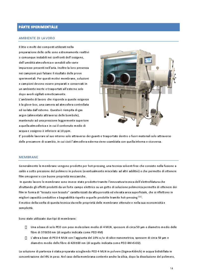 Estratto dalla tesi: Studio di membrane polimeriche elettrofilate a conduzione ionica